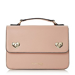 Head Over Heels by Dune - Light pink 'Heartie' heart turn lock cross body satchel