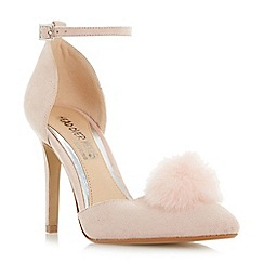Head Over Heels by Dune - Light pink 'Cresseda' two part pom pom court shoes