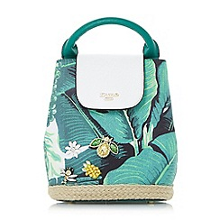 Dune - Green 'Dieberpalm' palm print mini backpack bag