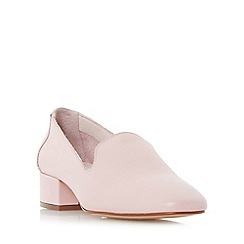 Dune - Light pink 'Glover' slipper cut block heel court shoes