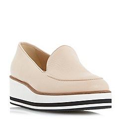 Dune - Natural 'Genesis' slipper cut flatform shoes