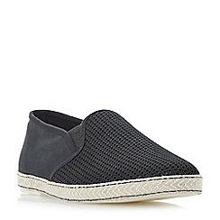 Dune - Black 'Fencing' mesh vamp espadrille shoes