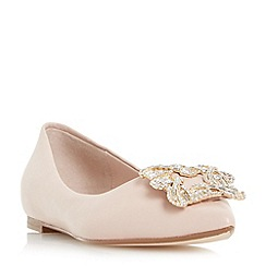 Dune - Light pink 'Briela' brooch trim flat shoes