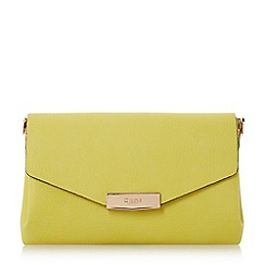 Dune - Light green 'Exie' multi compartment flap over clutch bag