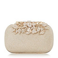 Dune - Gold 'Emberrs' embellished clasp clutch bags