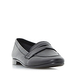 Dune - Black 'Galer' unlined penny loafer shoes
