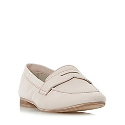 Dune - Natural 'Galer' unlined penny loafer shoes