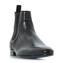 Bertie - Black 'Maple' contrast sole chelsea boots