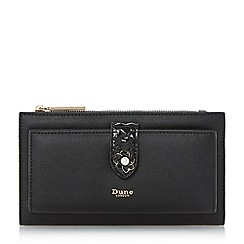 Dune - Black 'Kallows' enamel flower trim purse