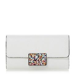 Dune - White 'Kyley' beaded lock detail purse