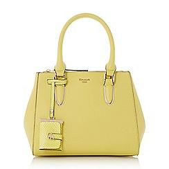 Dune - Yellow 'Denvie' top handle tote bag