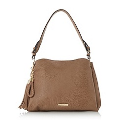Dune - Taupe 'Donnty di' tassel detail slouch bag