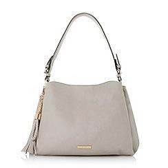 Dune - Grey 'Donnty' tassel detail slouch bag