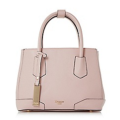 Dune - Pink 'Dipley' top handle tote bag