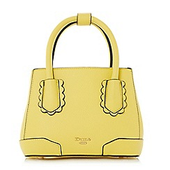 Dune - Yellow 'Dinidipley' scallop trim mini tote bag