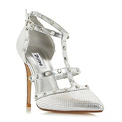 Dune - Silver 'Daenerys' studded high heel court shoes