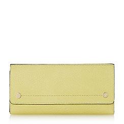 Dune - Light green 'Kemily' stud detail fold over purse