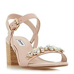 Dune - Light pink 'Joone' block heel jewelled sandals