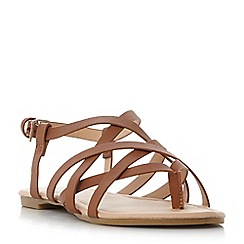 Head Over Heels by Dune - Tan 'Luciles' gladiator sandals