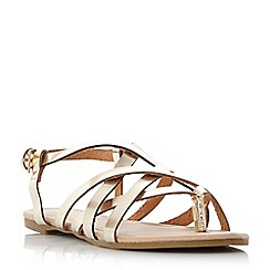 Head Over Heels by Dune - Gold 'Luciles' gladiator sandals