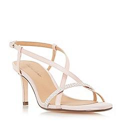 Roland Cartier - Pink 'Merryn' diamante strappy mid heel sandals