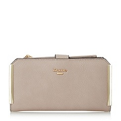 Dune - Cream 'Kassia' metal trim rectangular purse with removable pouch