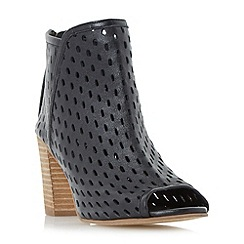 Dune - Black 'Iola' perforated  foot coverage shoes