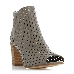 Dune - Taupe 'Iola' perforated  foot coverage sandals