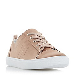 Head Over Heels by Dune - Pink 'Eisha' satin lace up trainers
