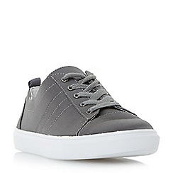 Head Over Heels by Dune - Grey 'Eisha' satin lace up trainers
