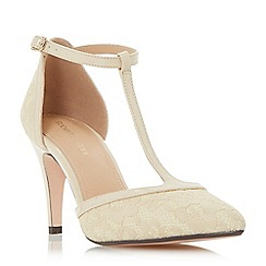 Roberto Vianni - Cream 'Charlot' t-bar mid heel court shoes