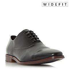 Dune - Black 'Wravenswood' wide fit toecap detail oxford shoes