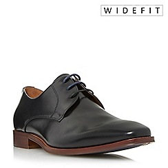 Dune - Black 'Wrichmonds' wide fit square toe derby shoes