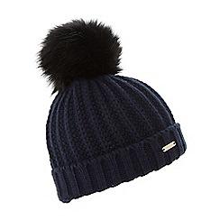 Dune - Navy 'Findlay' knitted pom pom hat
