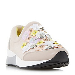 Dune - Light pink 'Elecktra' embellished slip on trainers