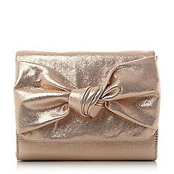 Head Over Heels by Dune - Rose 'Bernette' knot detail clutch bag