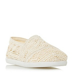 Head Over Heels by Dune - Cream 'Eliah' white sole slip on shoes