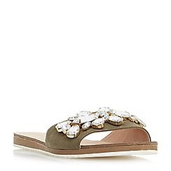 Roberto Vianni - Khaki 'Lorax' jewelled slider sandals