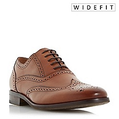 Dune - Tan 'Wrugby' wide fit oxford brogue shoes