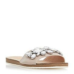 Roberto Vianni - Natural 'Lorax' jewelled slider sandals