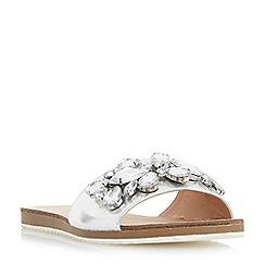 Roberto Vianni - Silver 'Lorax' jewelled slider sandals