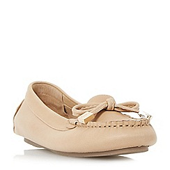 Dune - Tan 'Genovia' bow detail loafer shoes