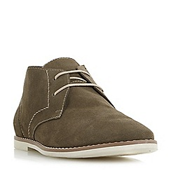 Bertie - Khaki 'Chives' textured suede chukka boots