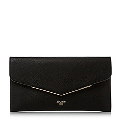 Dune - Black 'Epeonnie' metal insert envelope clutch bag