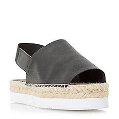 Dune - Black 'Lucindie' flatform espadrille sandals