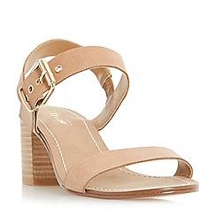 Dune - Tan 'Jany' block heel buckle sandals