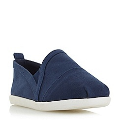 Head Over Heels by Dune - Navy 'Eliah' white sole slip on shoes