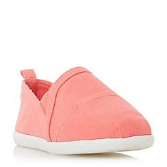Head Over Heels by Dune - Dark peach 'Eliah' white sole slip on shoes