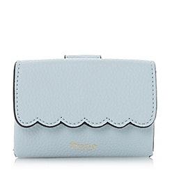 Dune - Blue 'Khloey' scallop trim mini purse