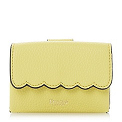 Dune - Yellow 'Khloey' scallop trim mini purse
